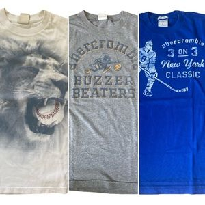 Abercrombie & Fitch 3 T-Shirt Bundle Youth Large